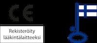 CE-merkki ja avainlippu